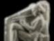 Auf dem Aulos spielende Kurtisane. Nebenseite des sog. Ludovisischen Throns (Altarverkleidung). Grossgriechisches Werk aus der Zeit um 470 v. Chr. Gipsabguss der Skulpturhalle nach dem Original im Palazzo Altemps in Rom.